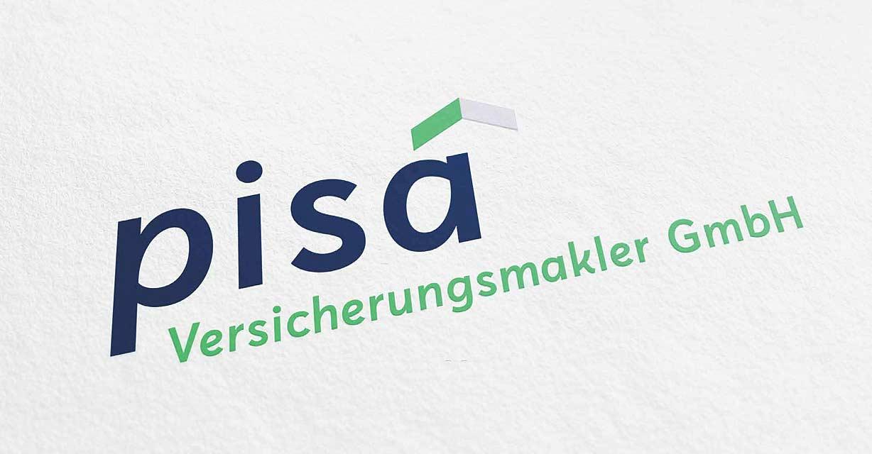 Das neue Logo der pisa Versicherungsmakler GmbH umgesetzt von ideenhunger