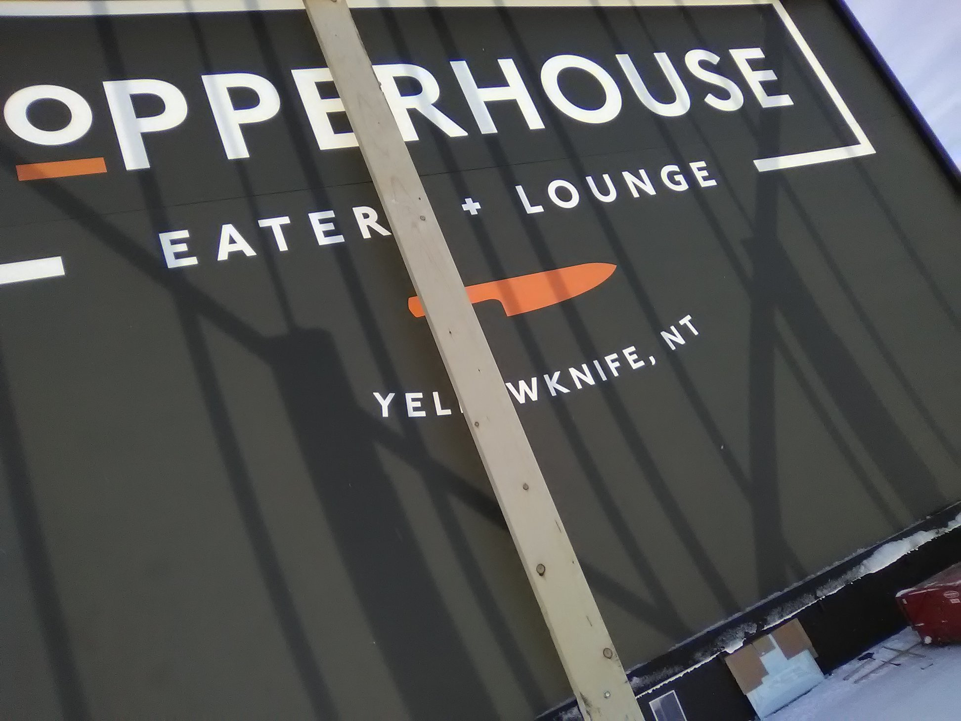 Exterior Plyon sign for Copperhouse Eatery & Lounge.