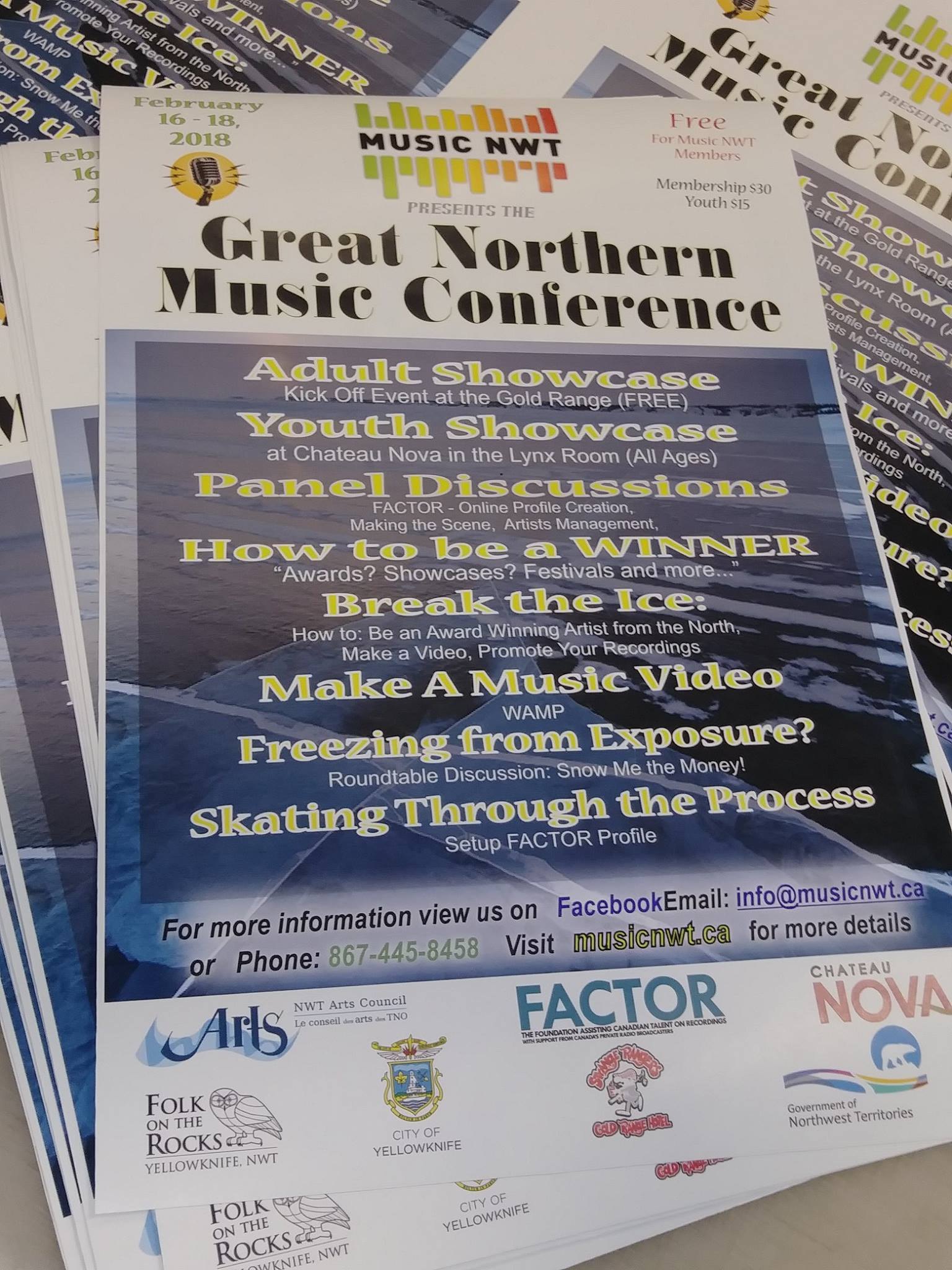 Great Northern Music Conference Posters.