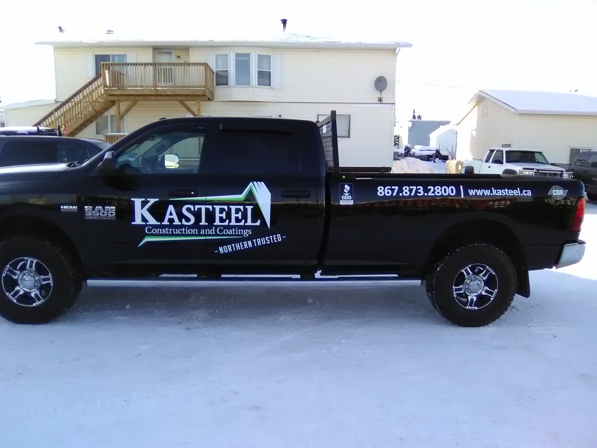 Kasteel Construction & Coating fleet decals.