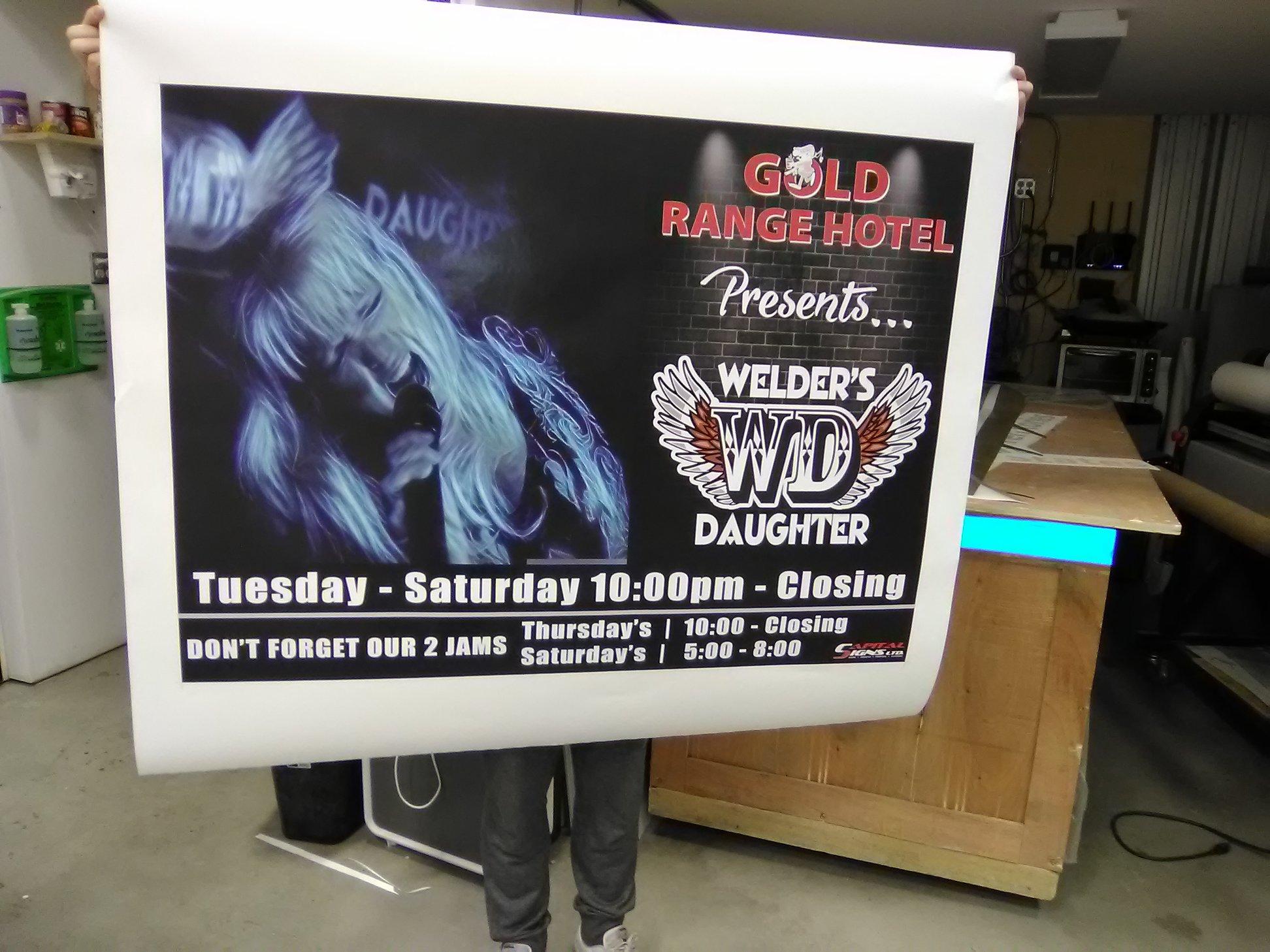 Gold Range Hotel Promotional Banner.