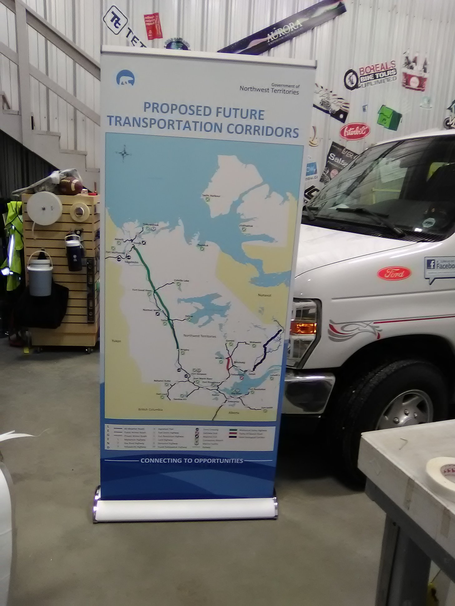 Government of the Northwest Territories - Marine Transportation Banner Stands.