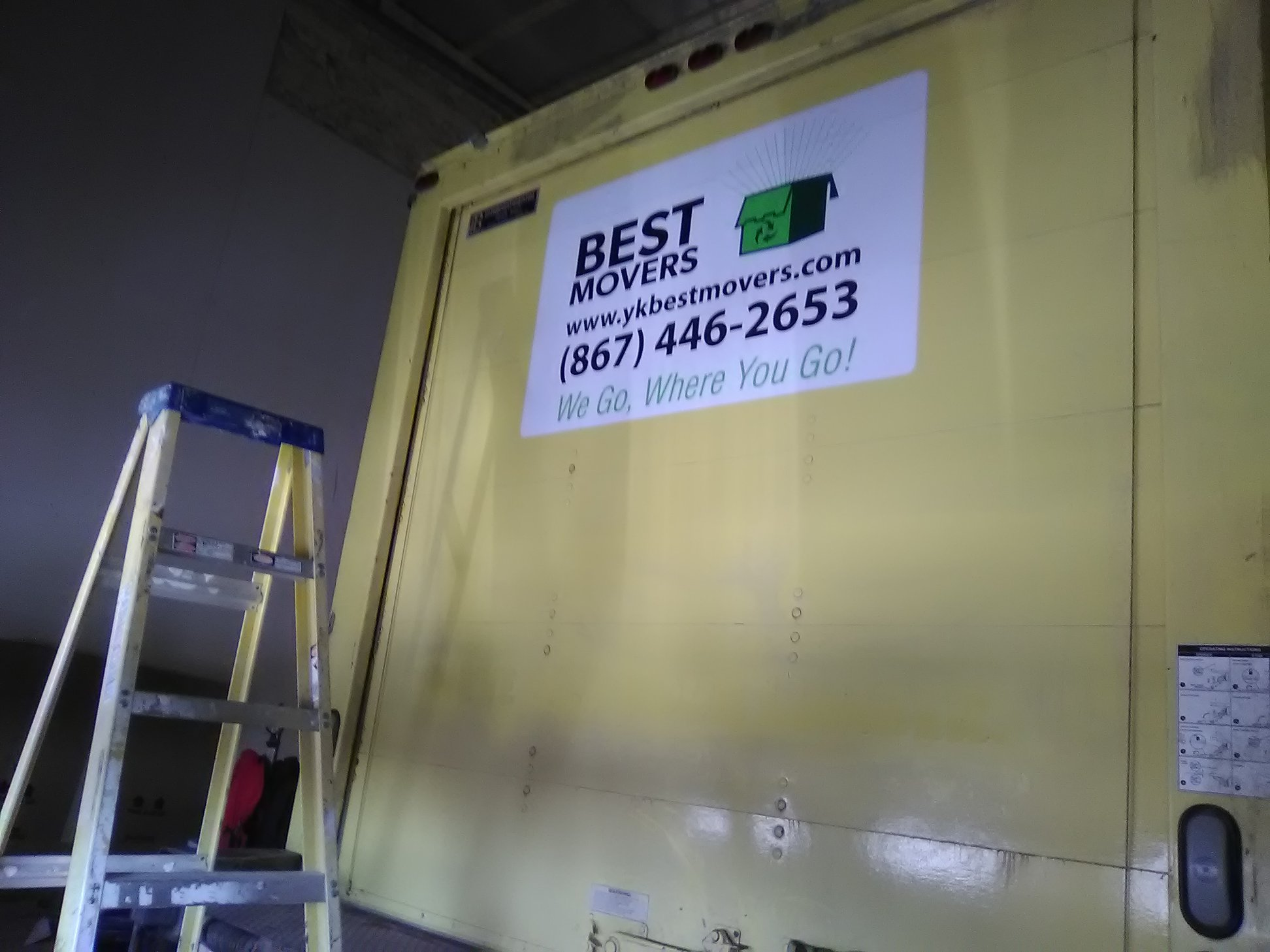 YK Best Movers Fleet Decal.
