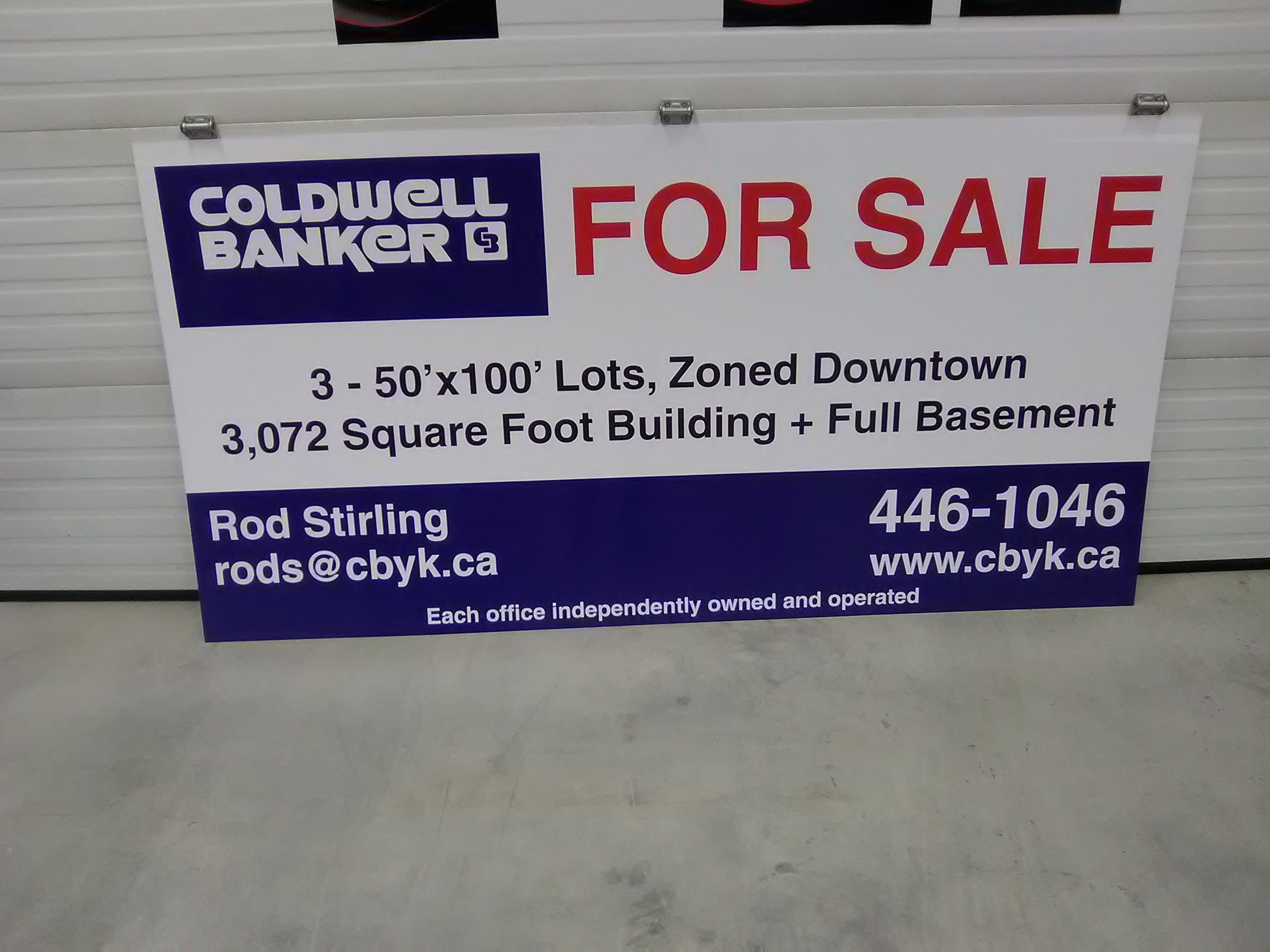 Commercial Real Estate For Sale Sign.