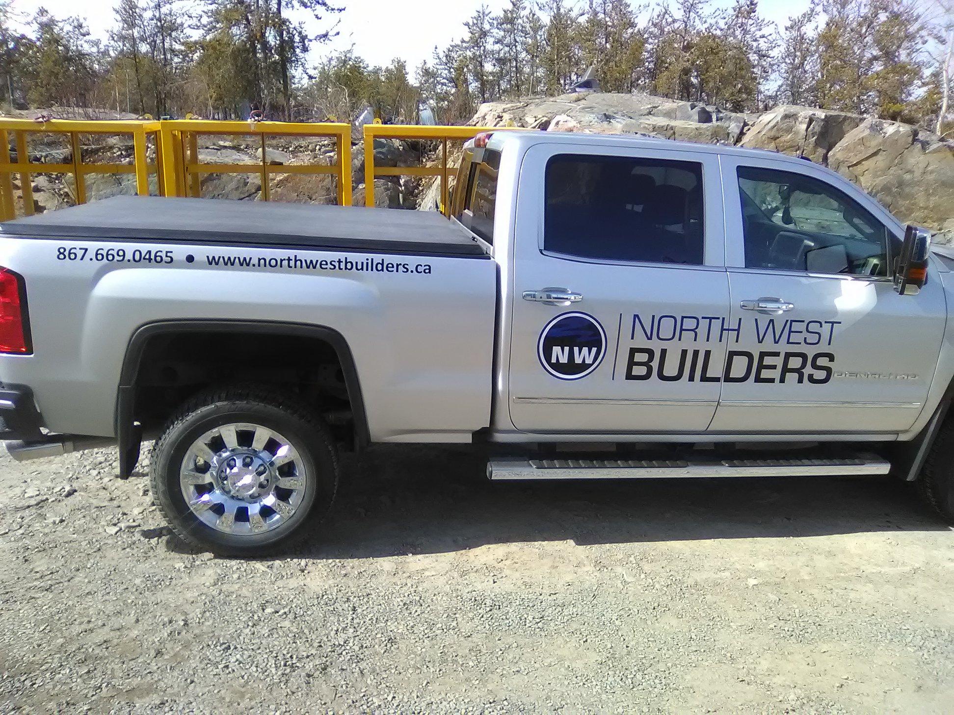 Fleet decals for Northwest Builders Trucks