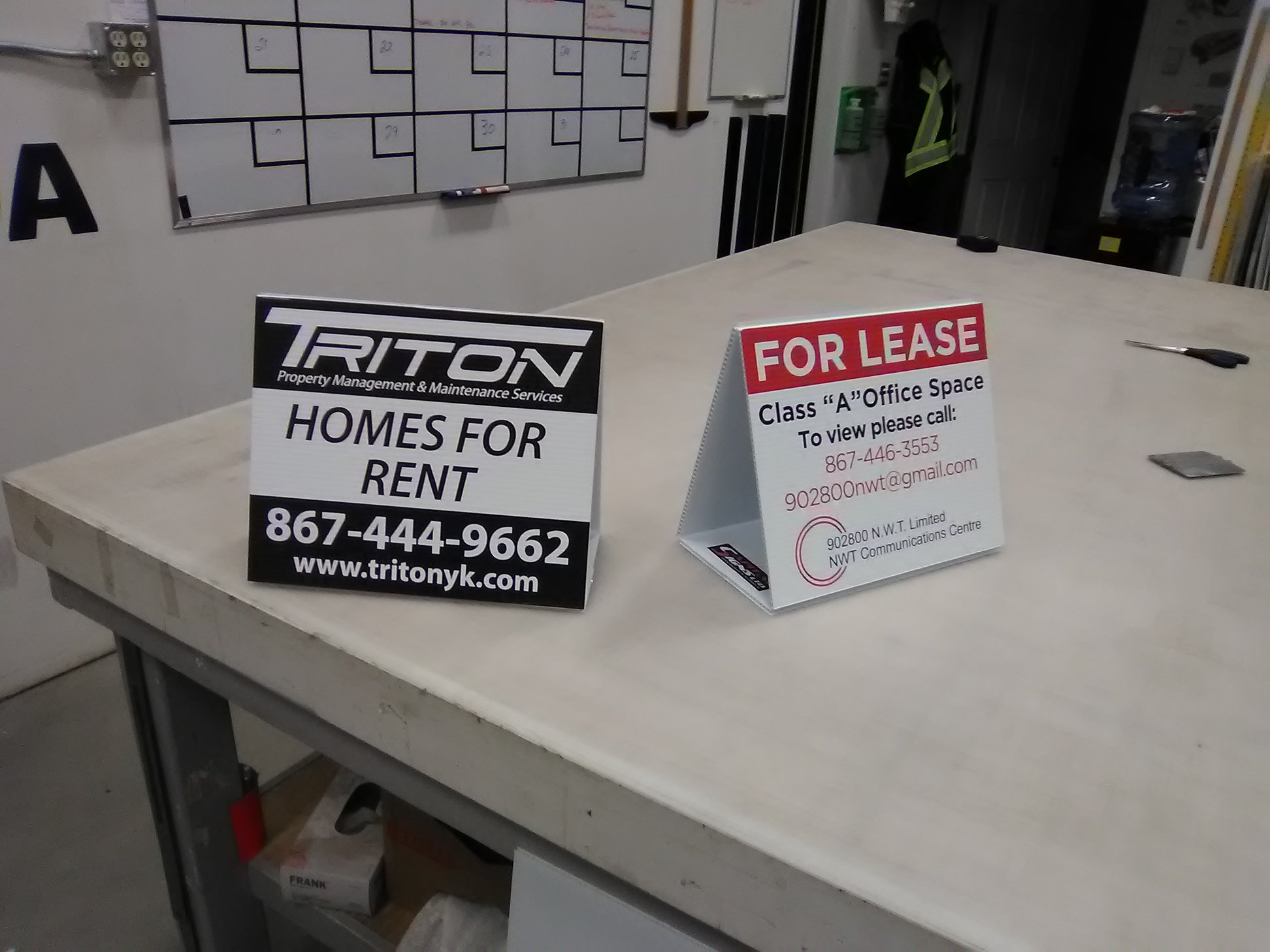 Signage for Triton Property Management & Maintenance Services
