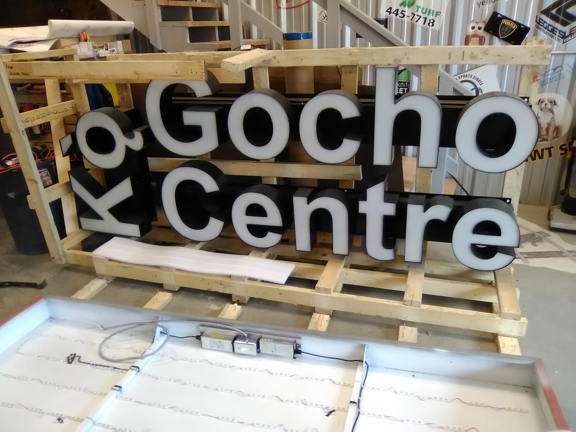 Ko Gocho Centre Backlit Sign