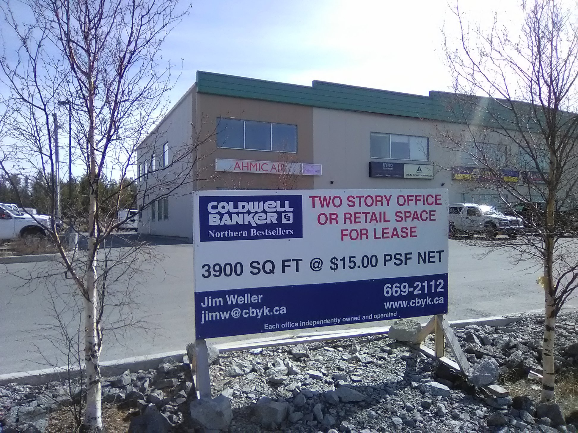 Coldwell Banker Commercial Real Estate Signage for Lease