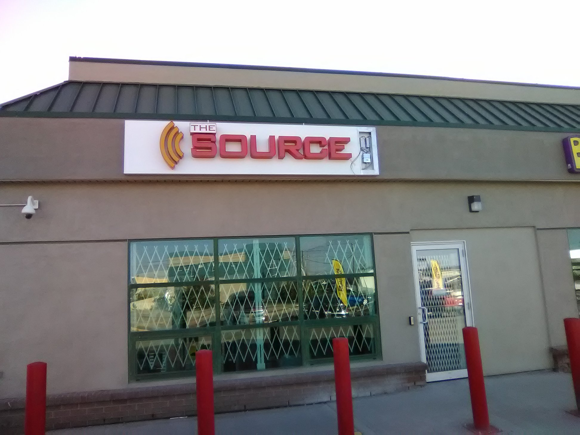 Backlit Sign for The Source