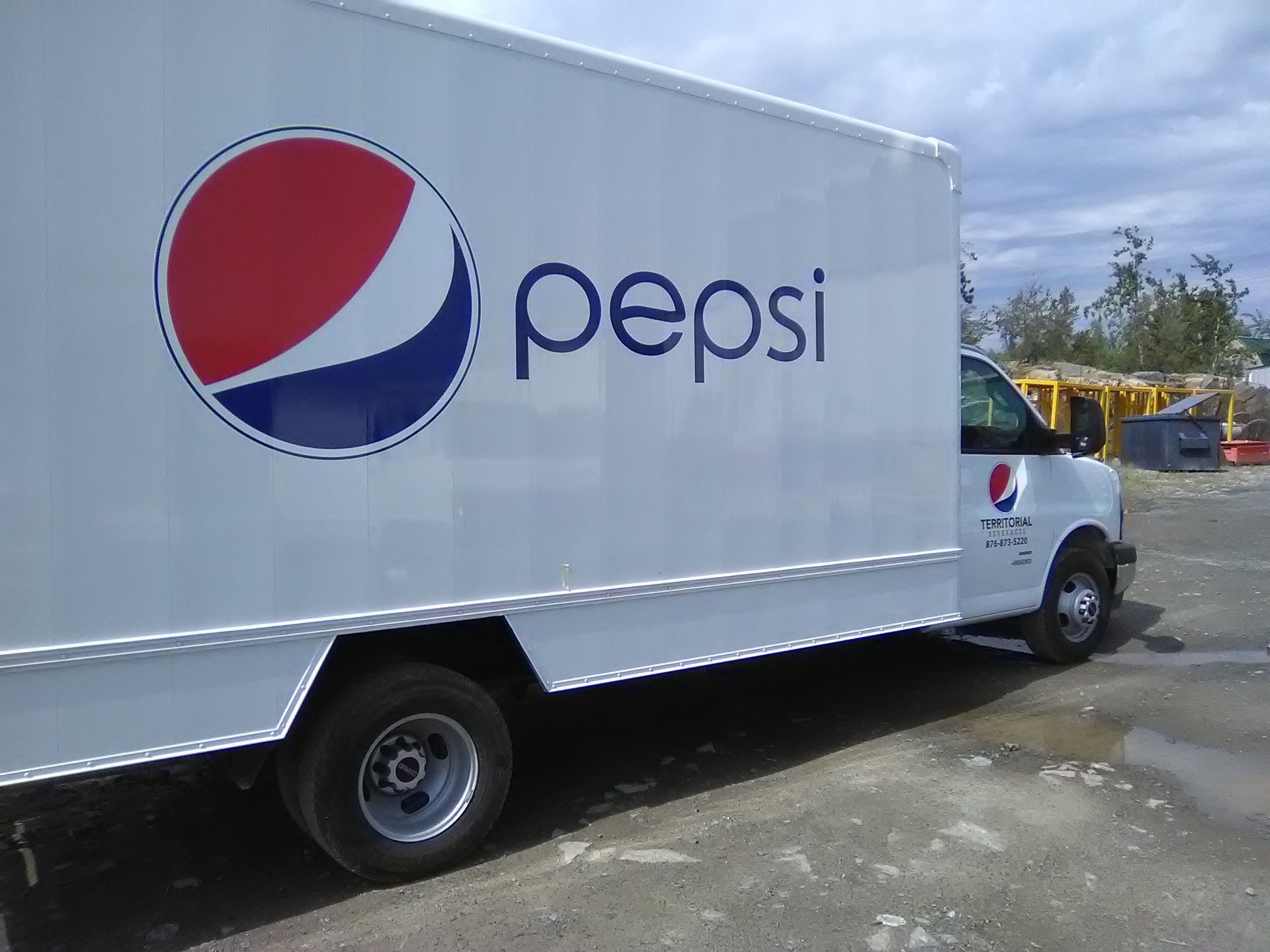 Branded Pepsi Delivery Vehicle