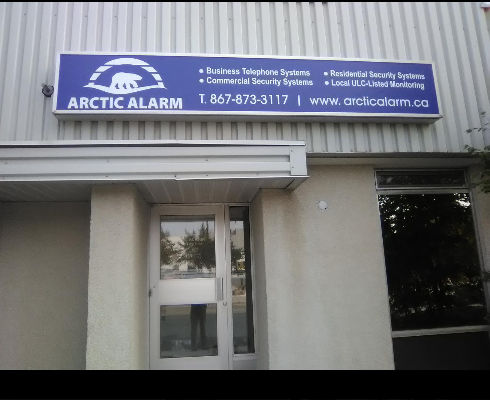 Arctic Alarm Exterior Backlit Signage