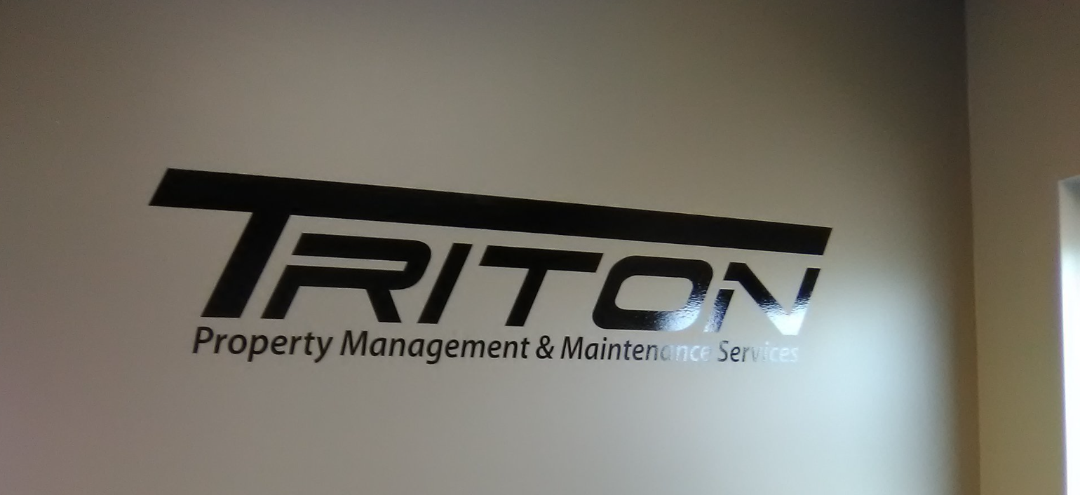 Triton Property Management & Maintenance Services Interior Signage