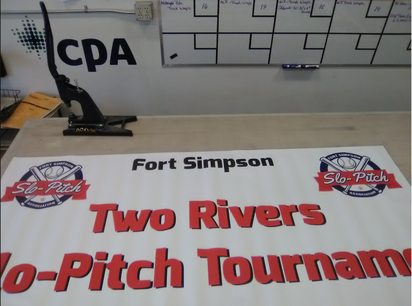 Fort Simpson Slo Pitch Association Event Banners