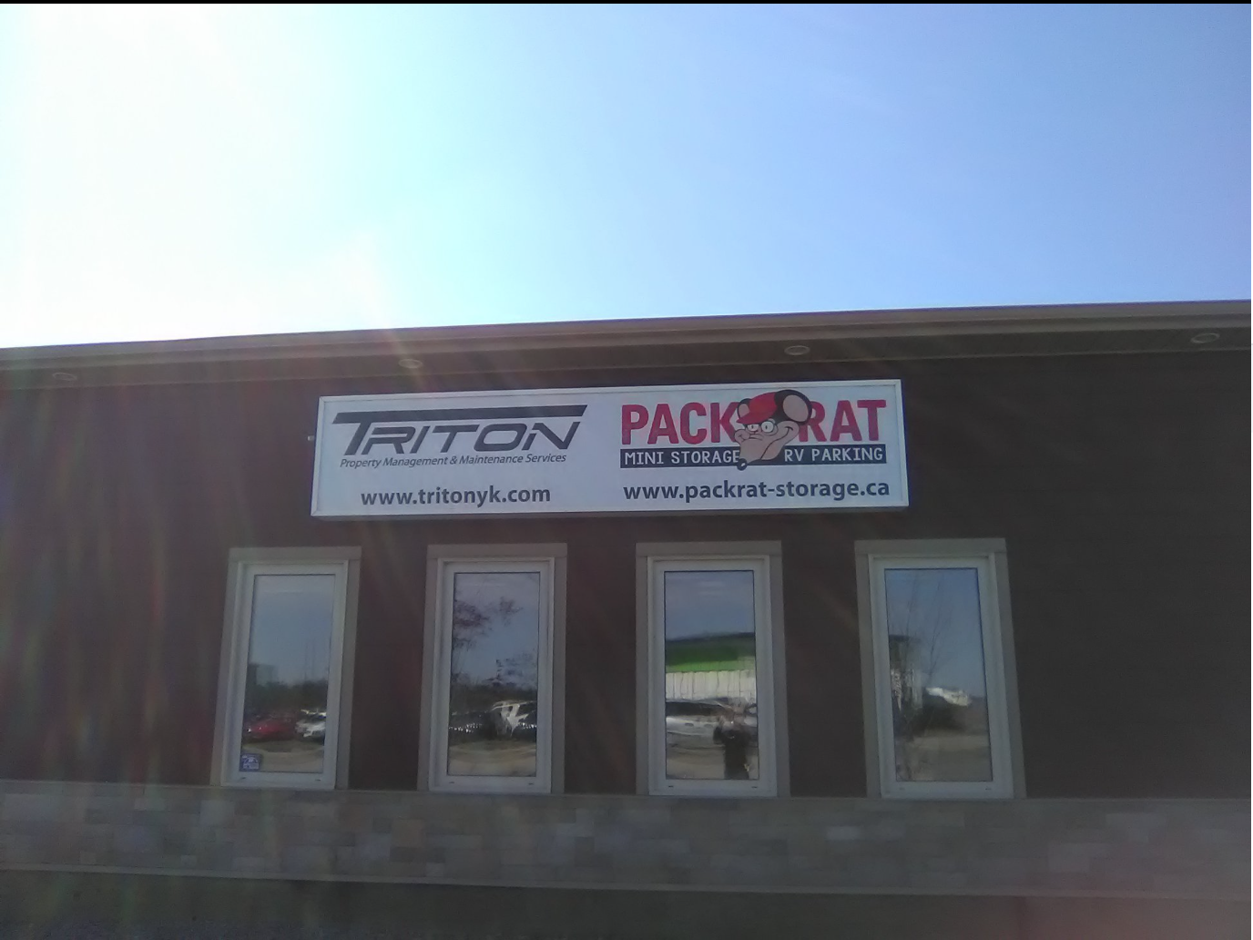 Triton Property Management & Maintenance Services Exterior Backlit Sign