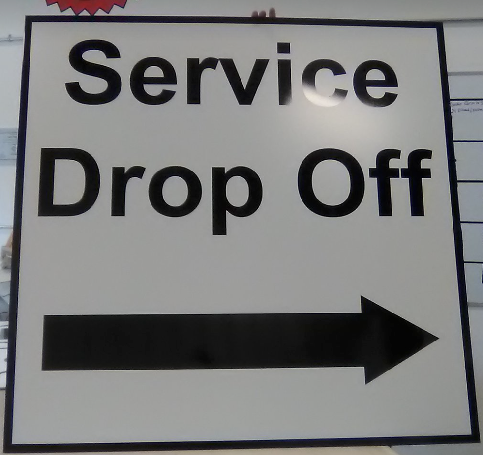 Directional Signage for Parking
