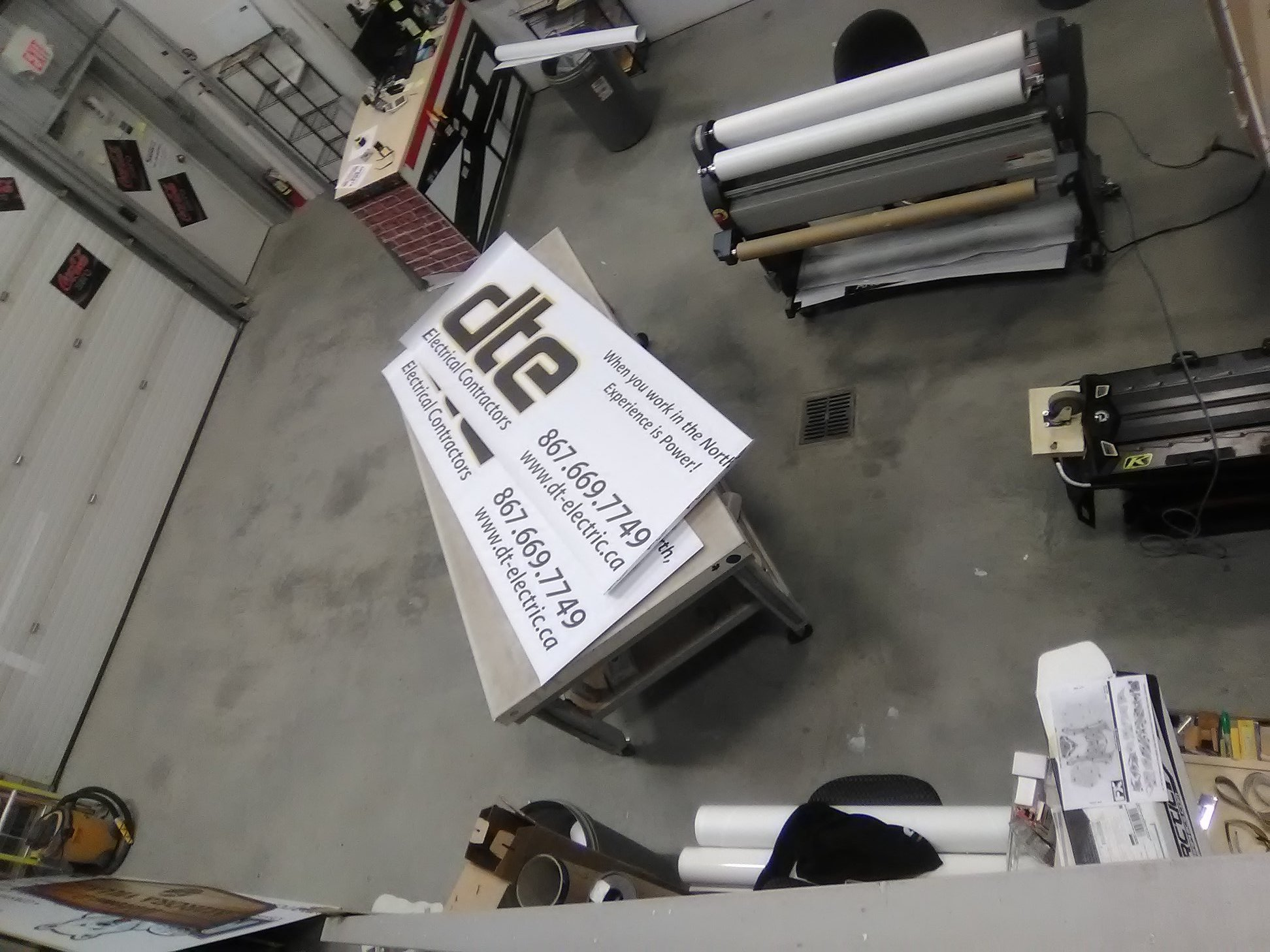 DTE Electrical Contractors Signage