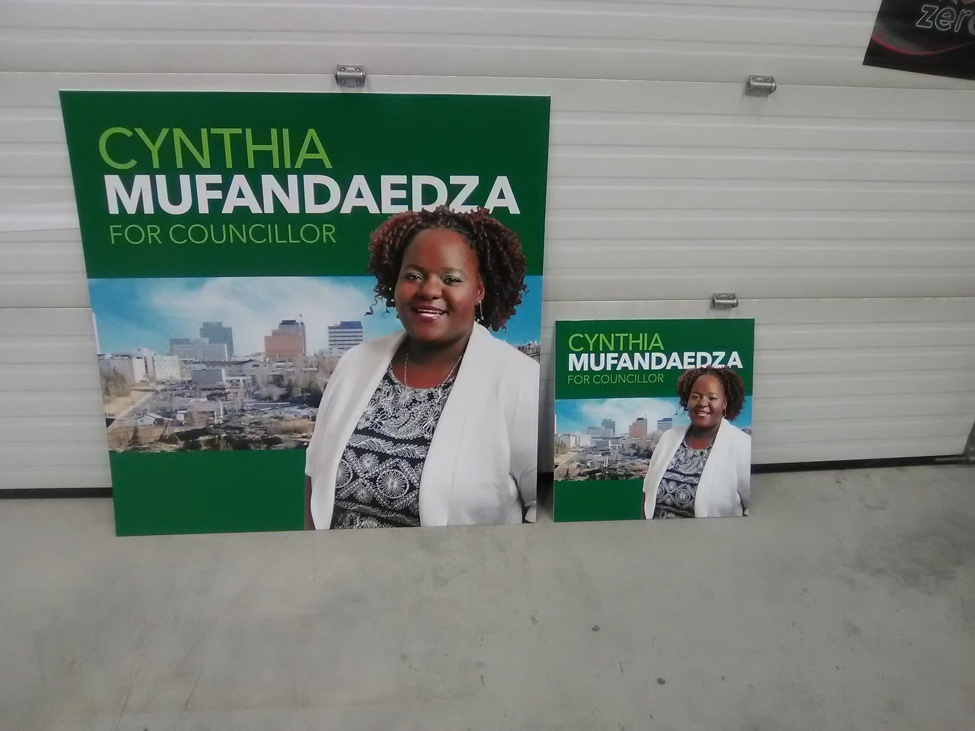 Cynthia Mufandaedza Mayor Candiate Signage