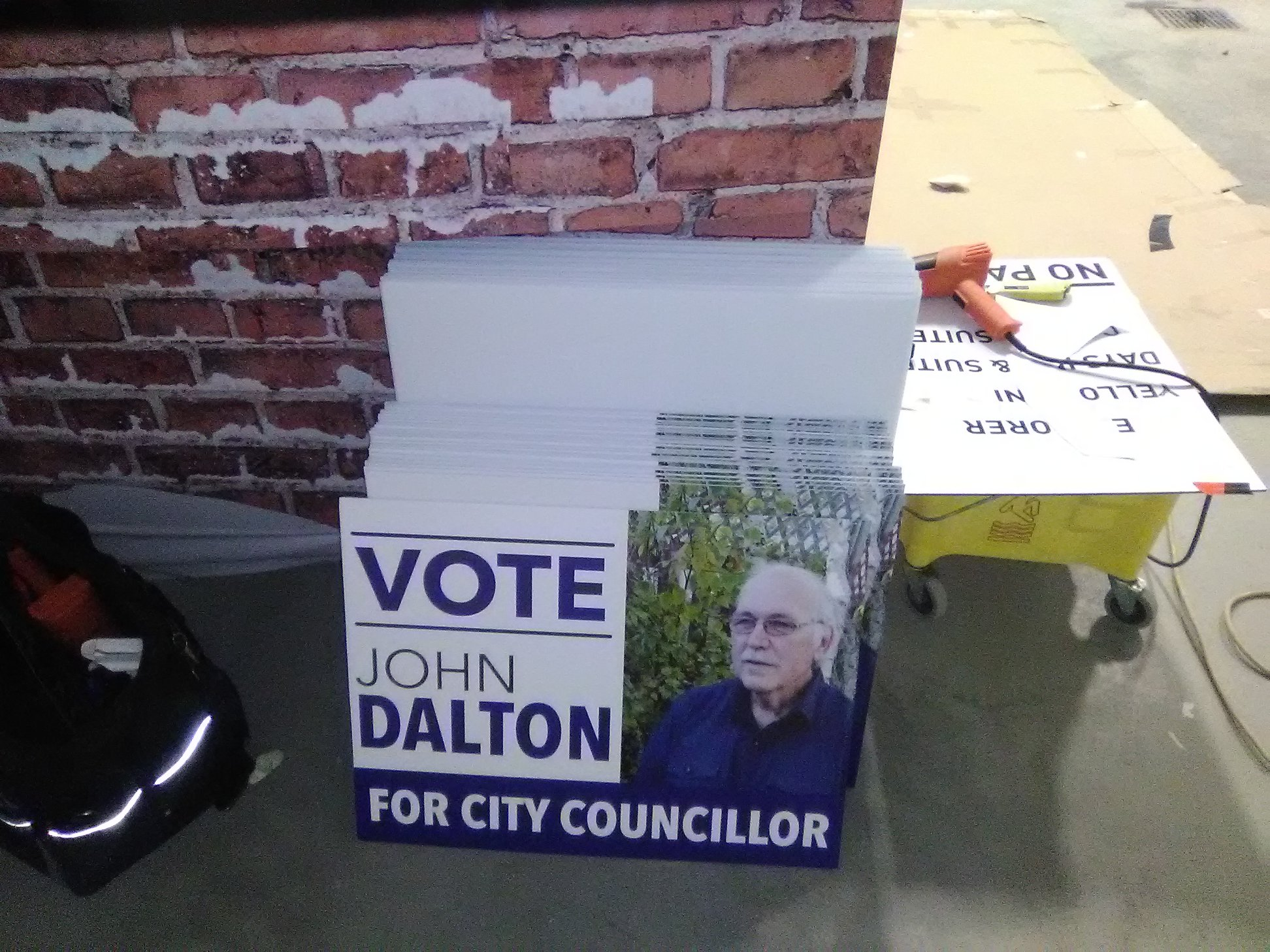 John Dalton Mayor Candiate Signage