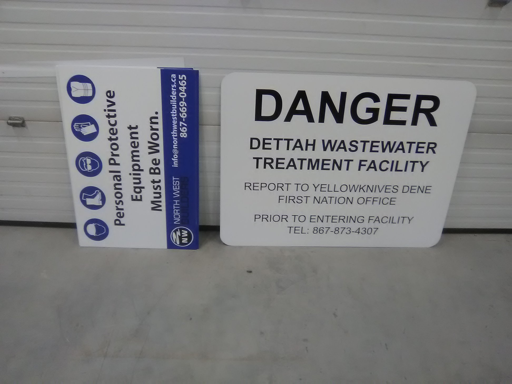 Dettah Wastewater Treatment Facility Exterior Signage