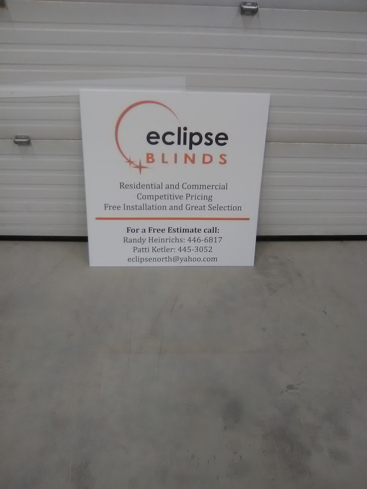 Eclipse Blinds Exterior Signage