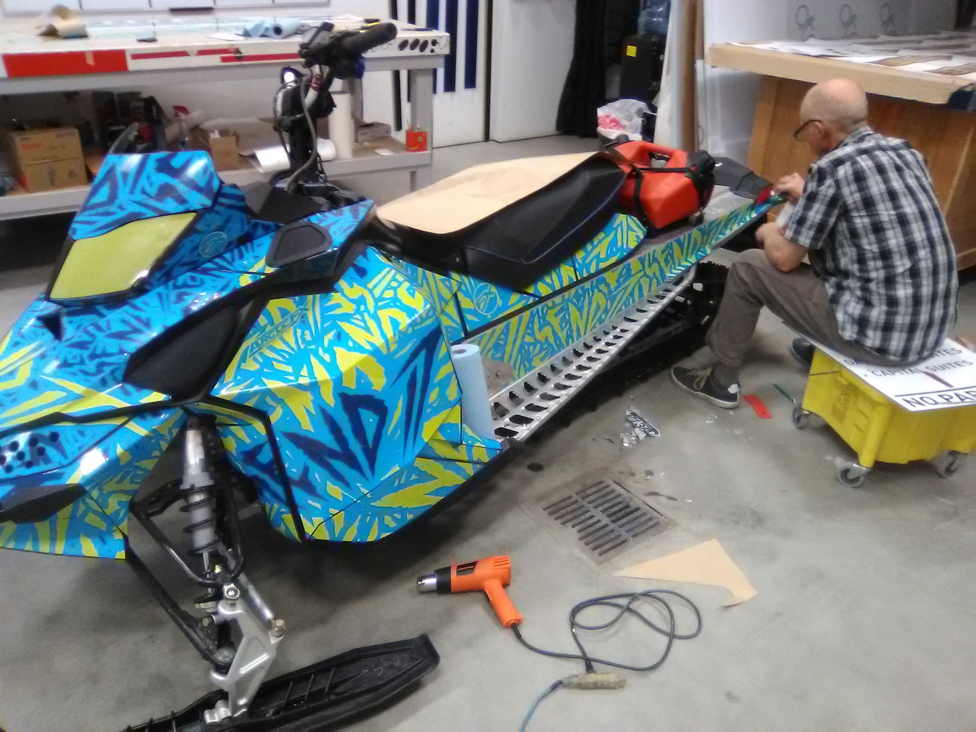 Blue Sled Wraps