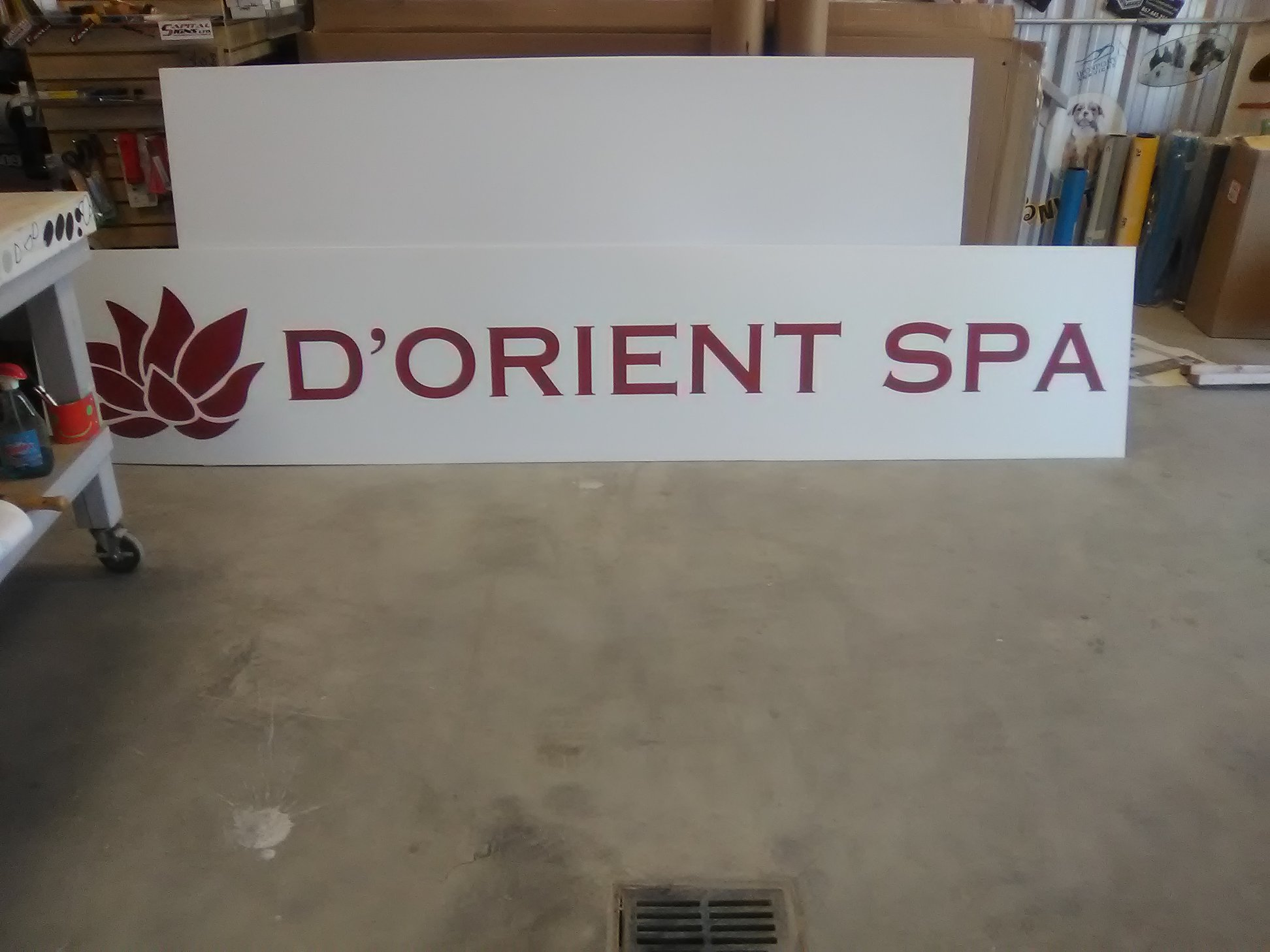 D'Orient Spa Backlit Signage