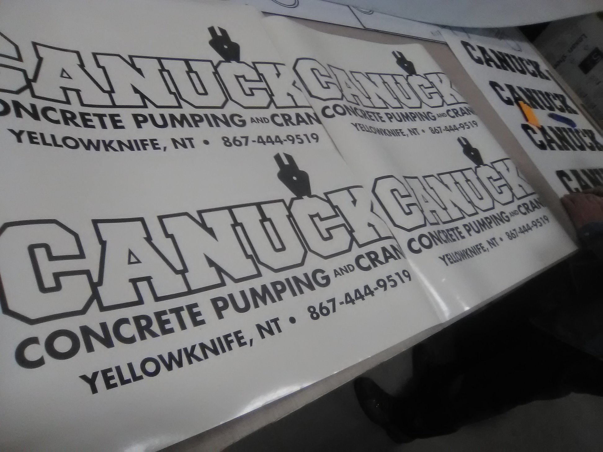 Canuck Pumping & Concrete Decals