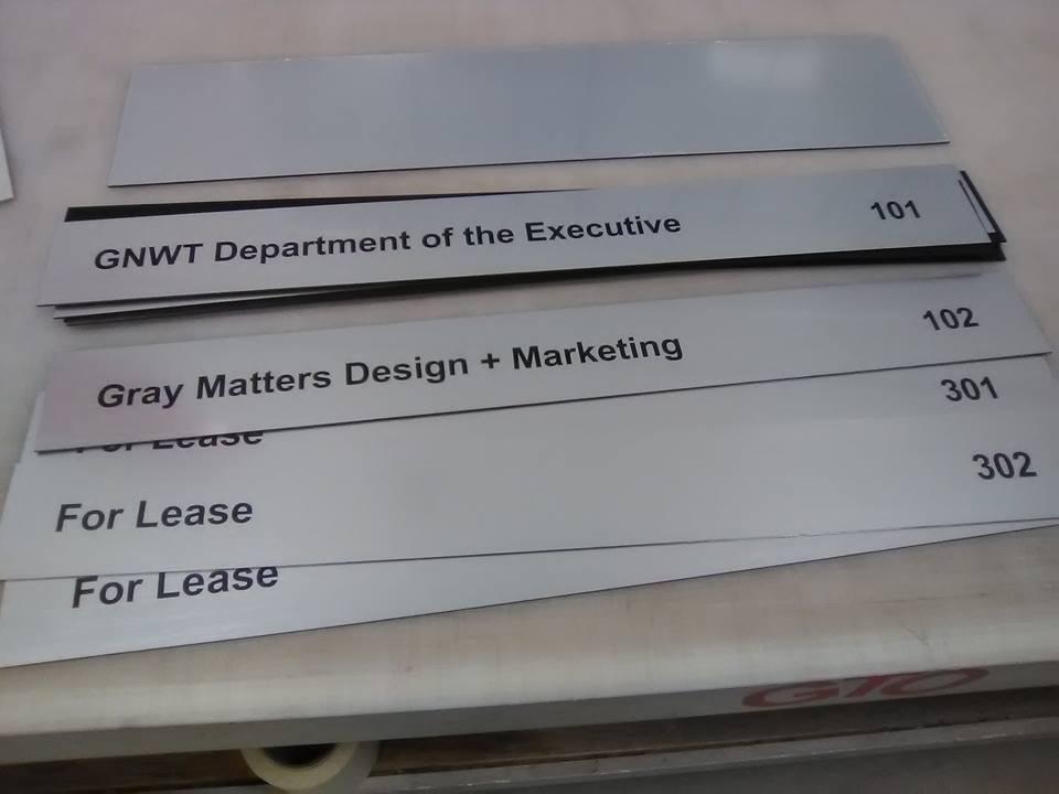Interior Building Office Signage