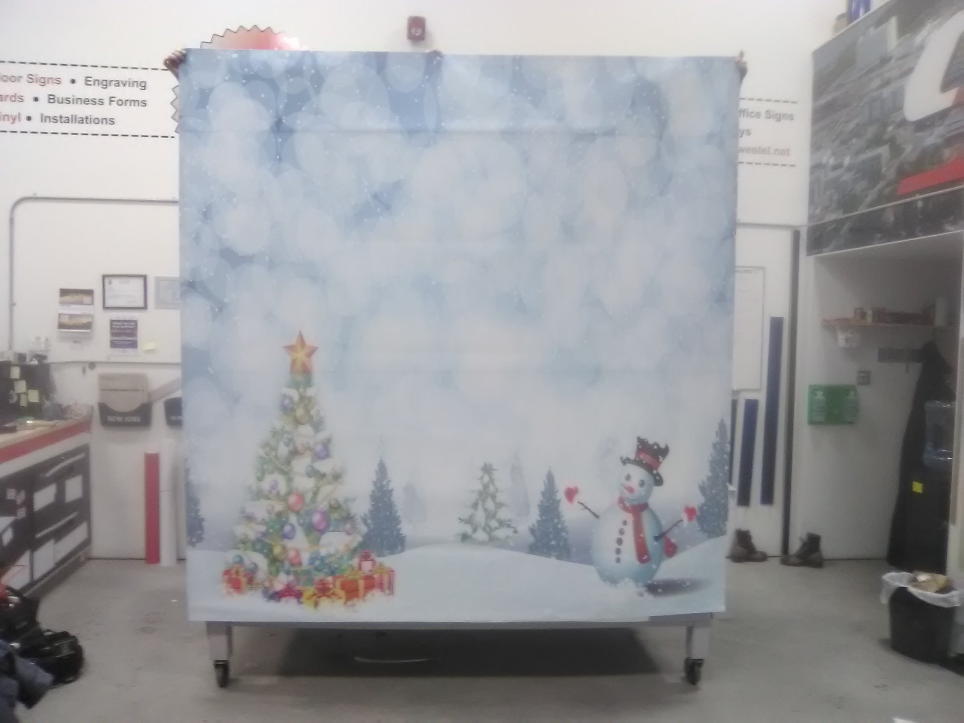 Santa Photo Backdrop