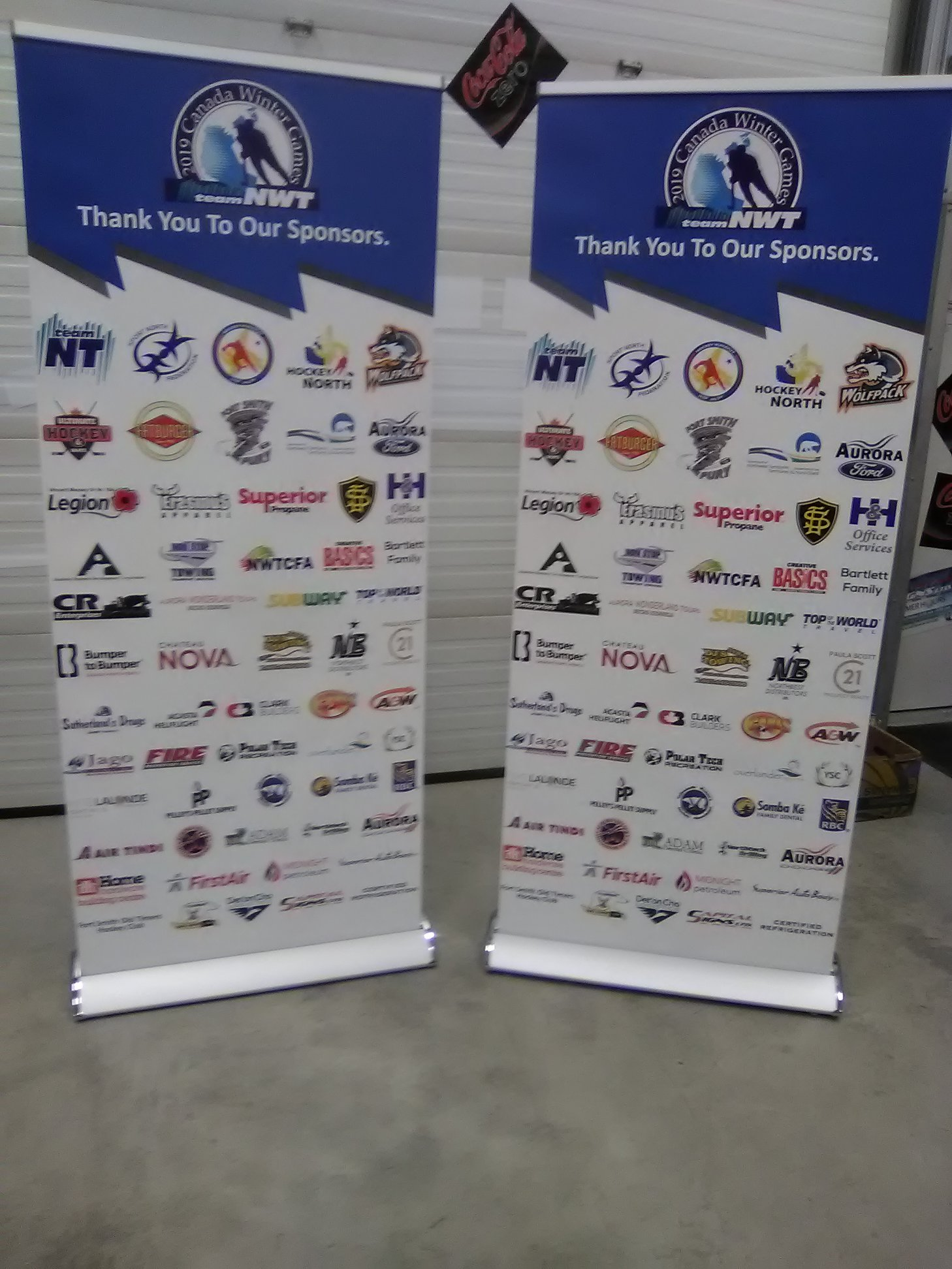 2019 Canada Winter Games Sponsorship Banners Stands