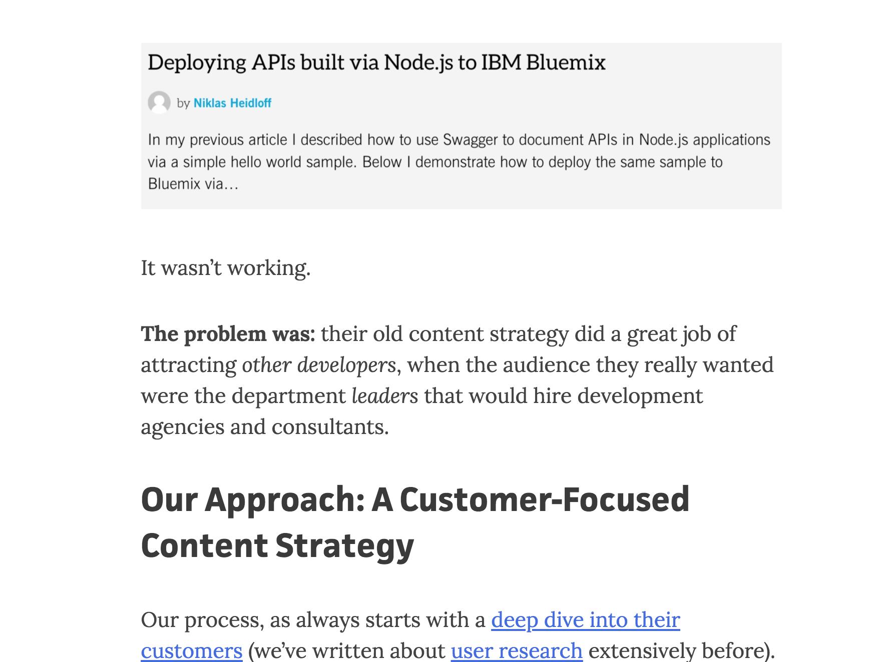 Grown & Convert screenshot: client case studies