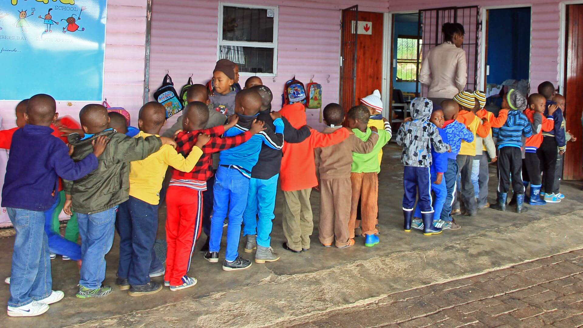 Primary school children, Plettenberg Bay, South Africa
