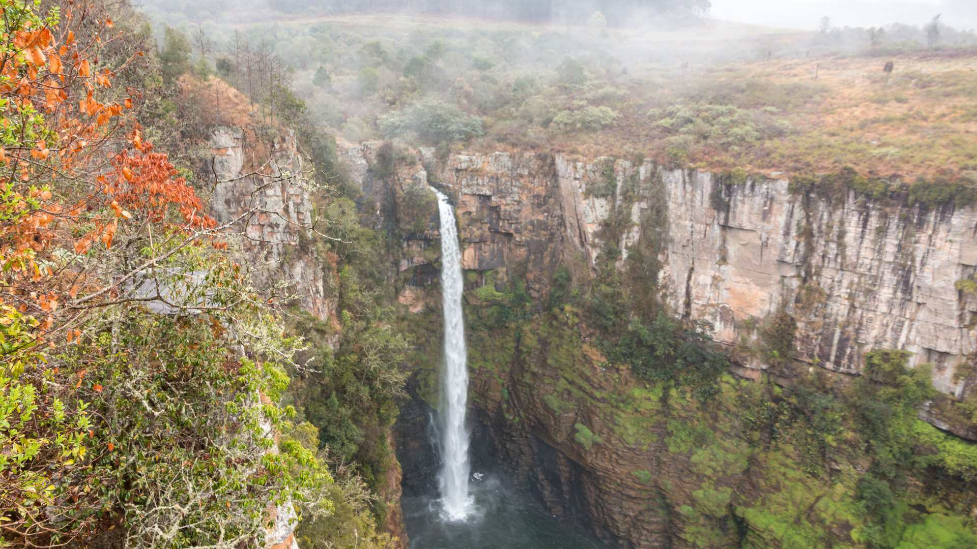 Waterfall during autumn, Panorama Route, South Africa