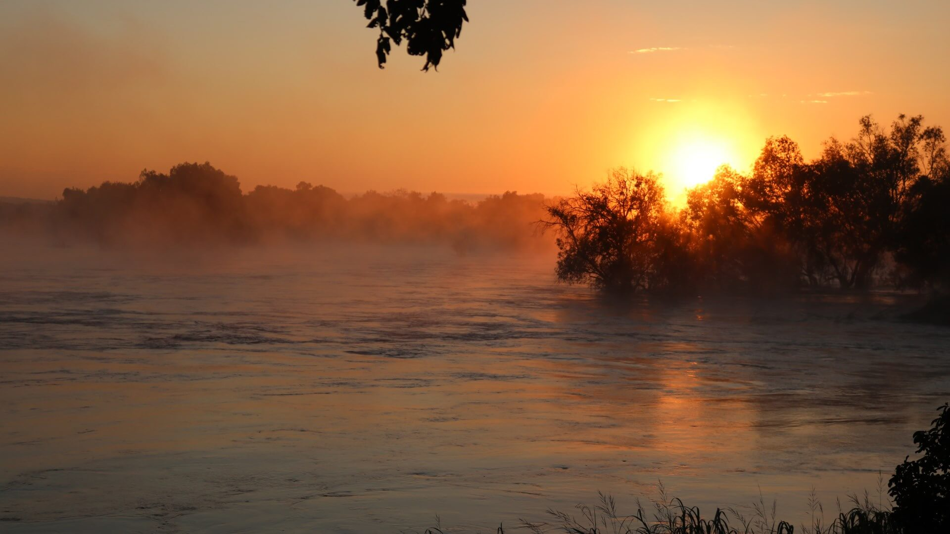 Sunrise at the Zambezi River, Zimbabwe