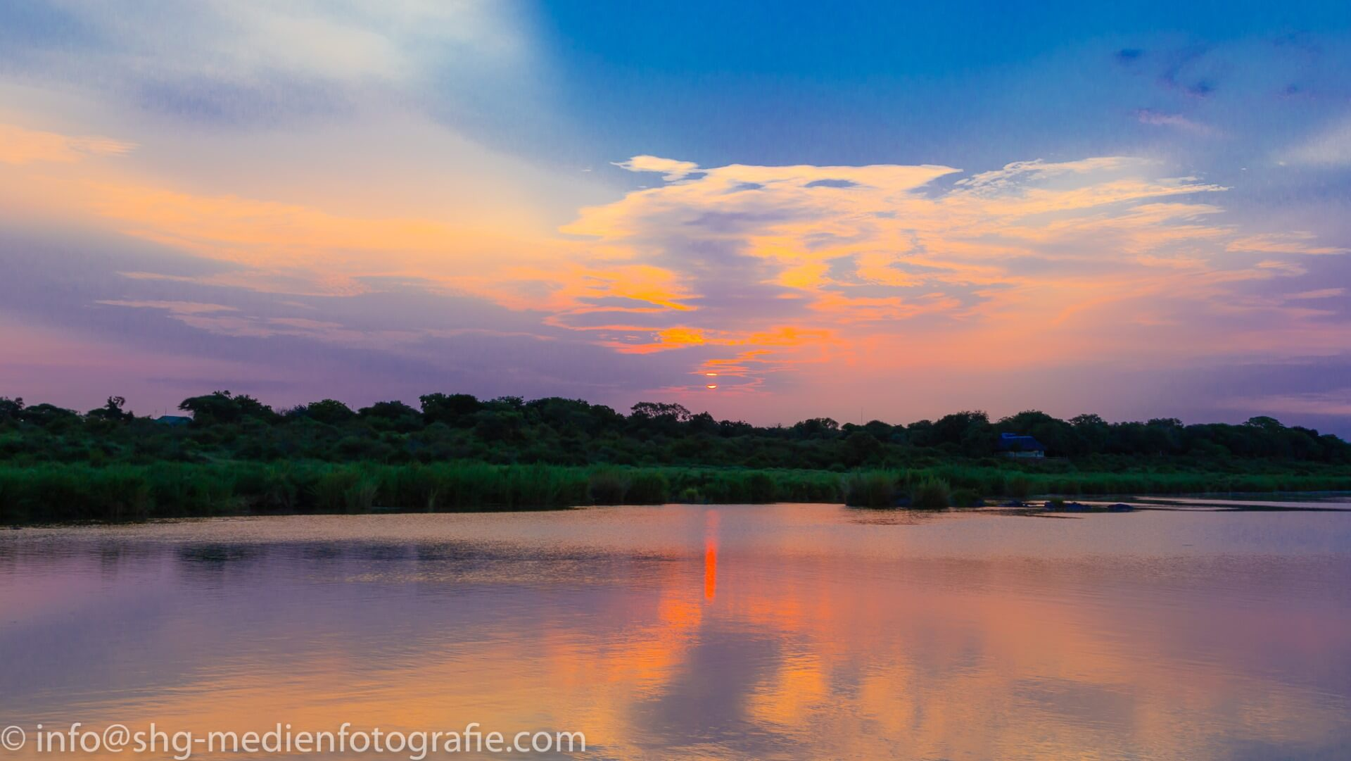River during sunrise, Kruger National Park, South Africa