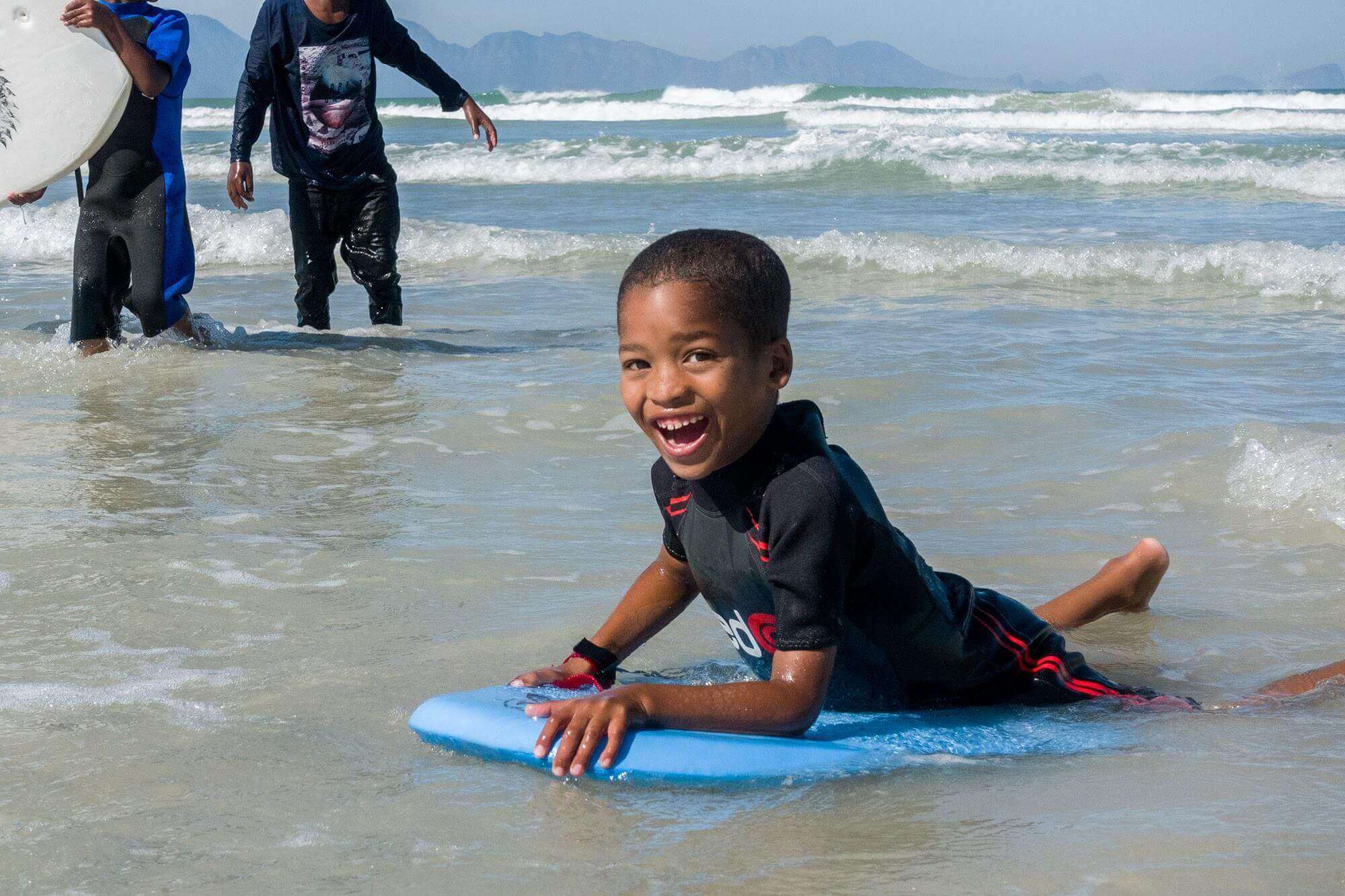 boy loves surfing