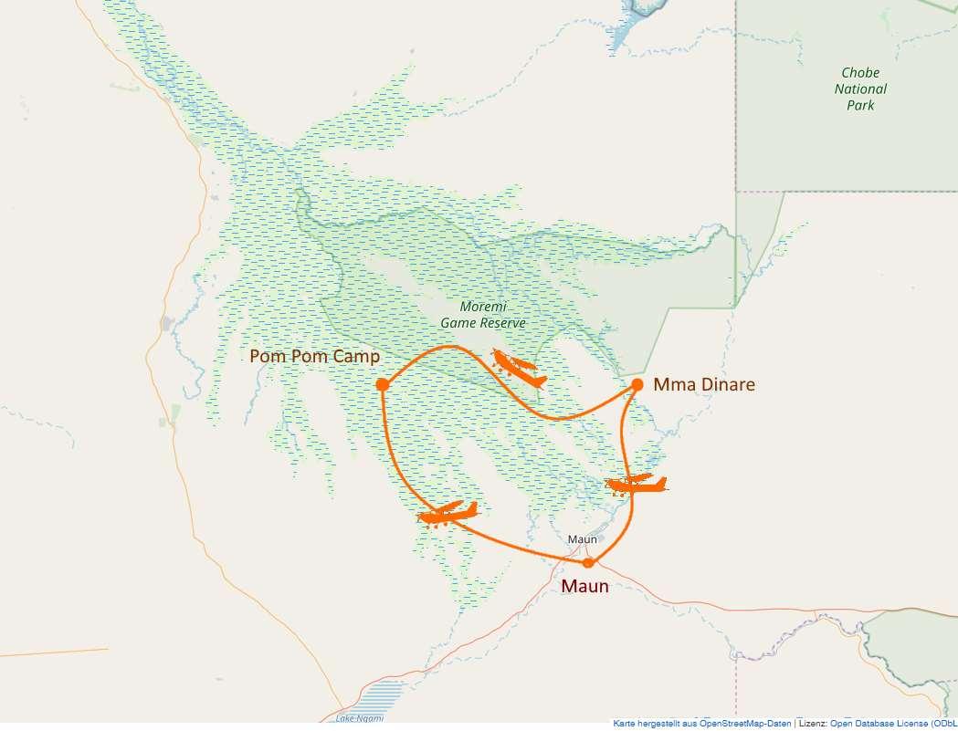 Map of tour