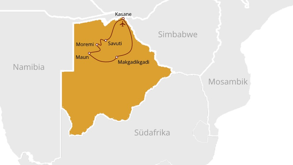 Botswana Highlights on a budget