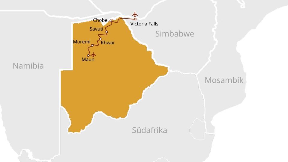 Private Safari: Okavango Delta to Victoria Falls