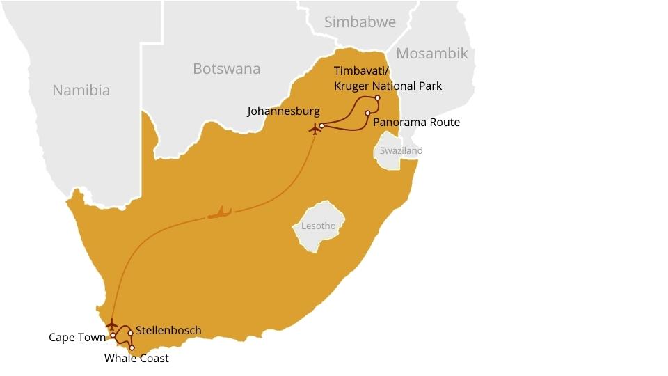Kruger National Park and Cape of Good Hope