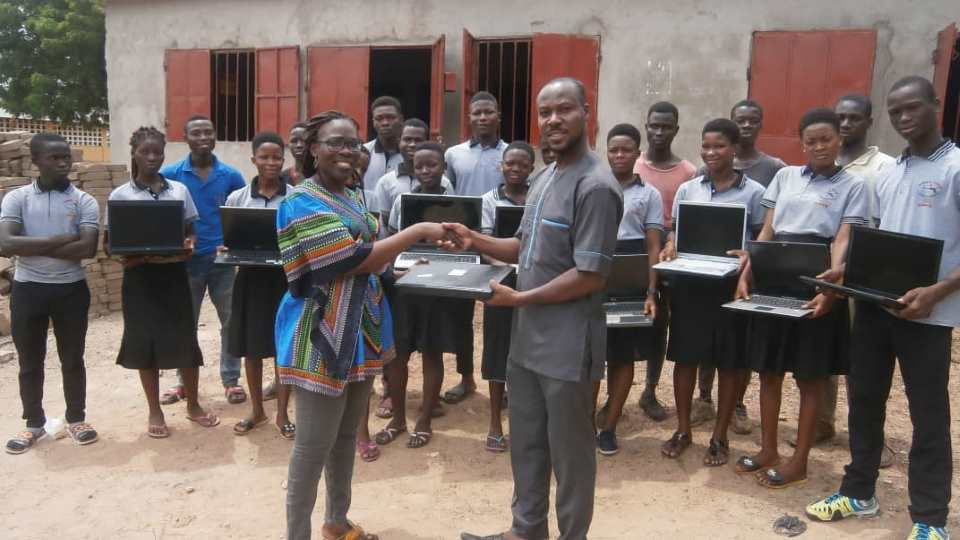 Some new laptops for an african school
