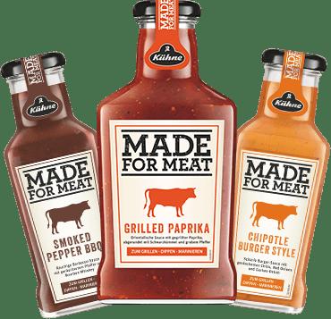 Die MADE FOR MEAT Grillsaucen von Kühne