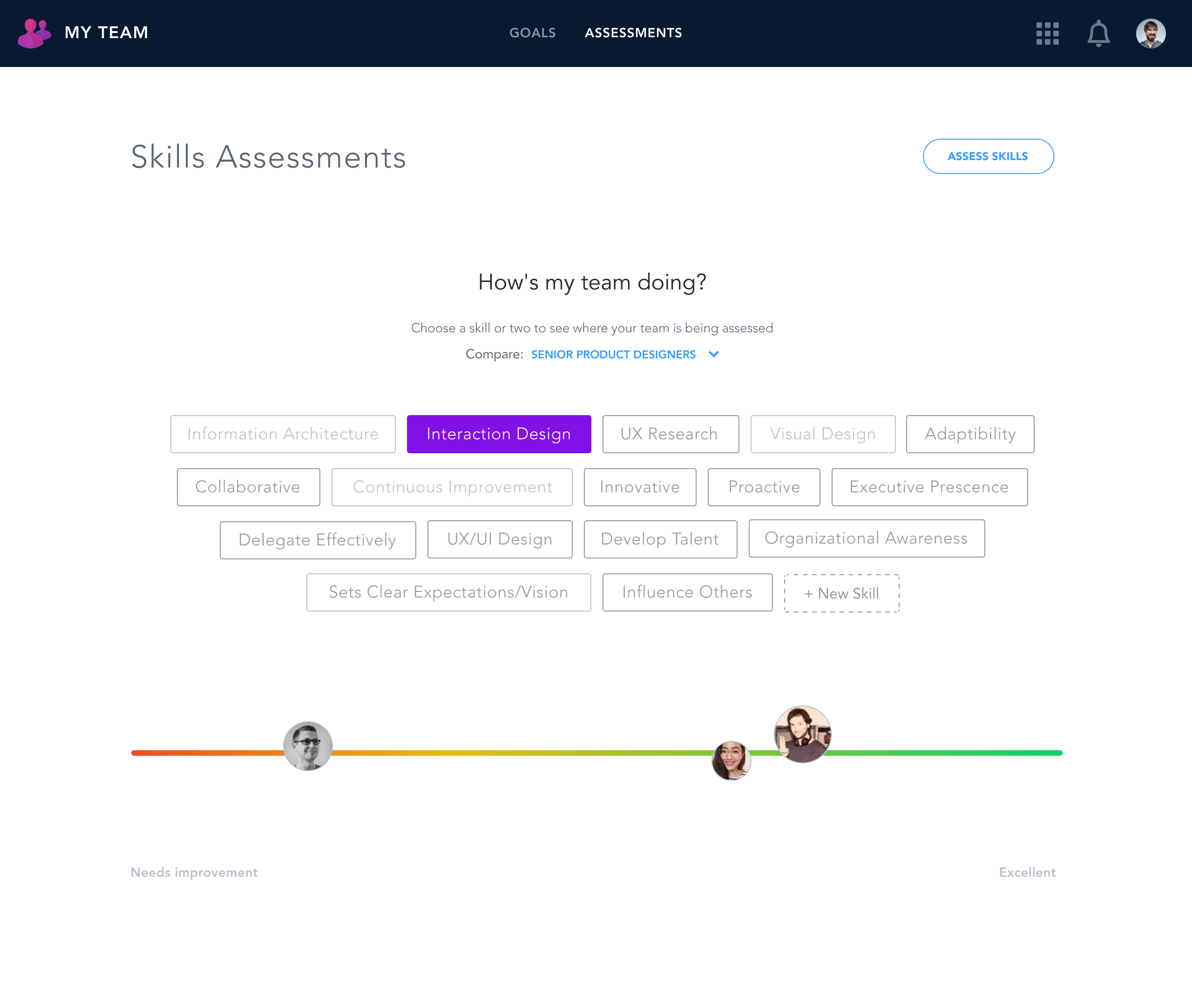 Manager Skill Assessment team view