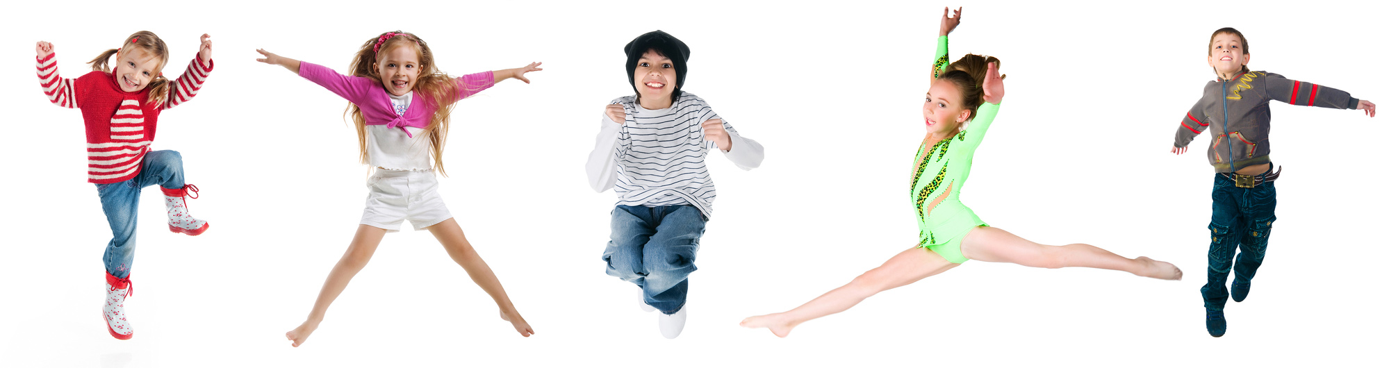 Kids showing different dance options