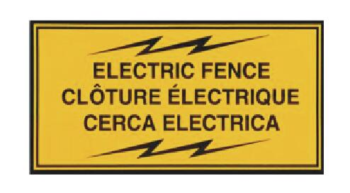 Electric Fence Warning Signs