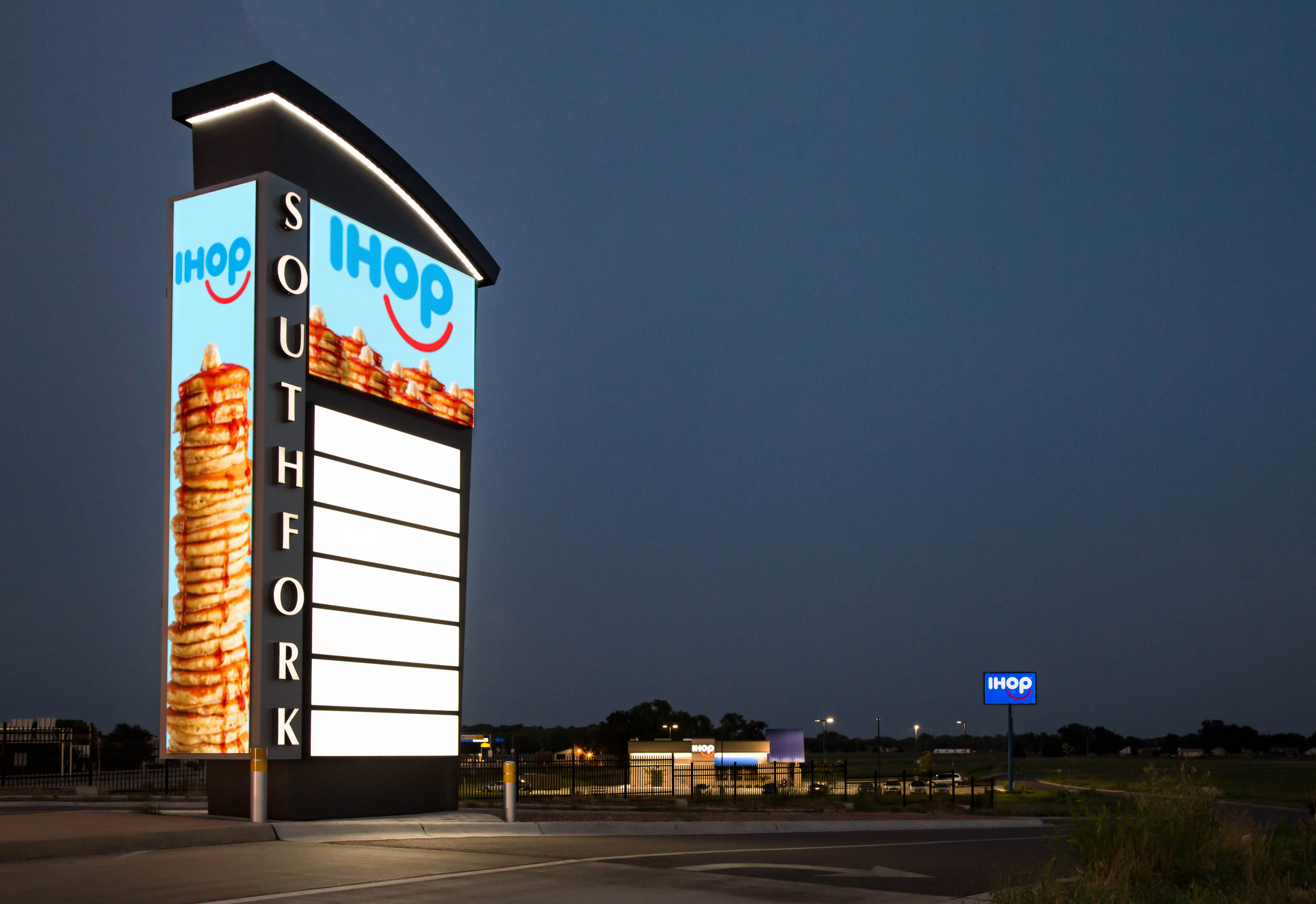 Image of a message board advertising IHOP