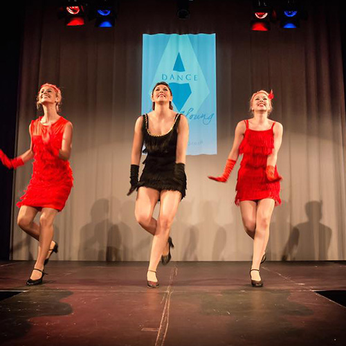 Amy Young Dance party entertainment bristol. Images of dancers doing the charleston