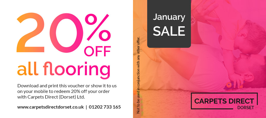 20% off all flooring - January Sale