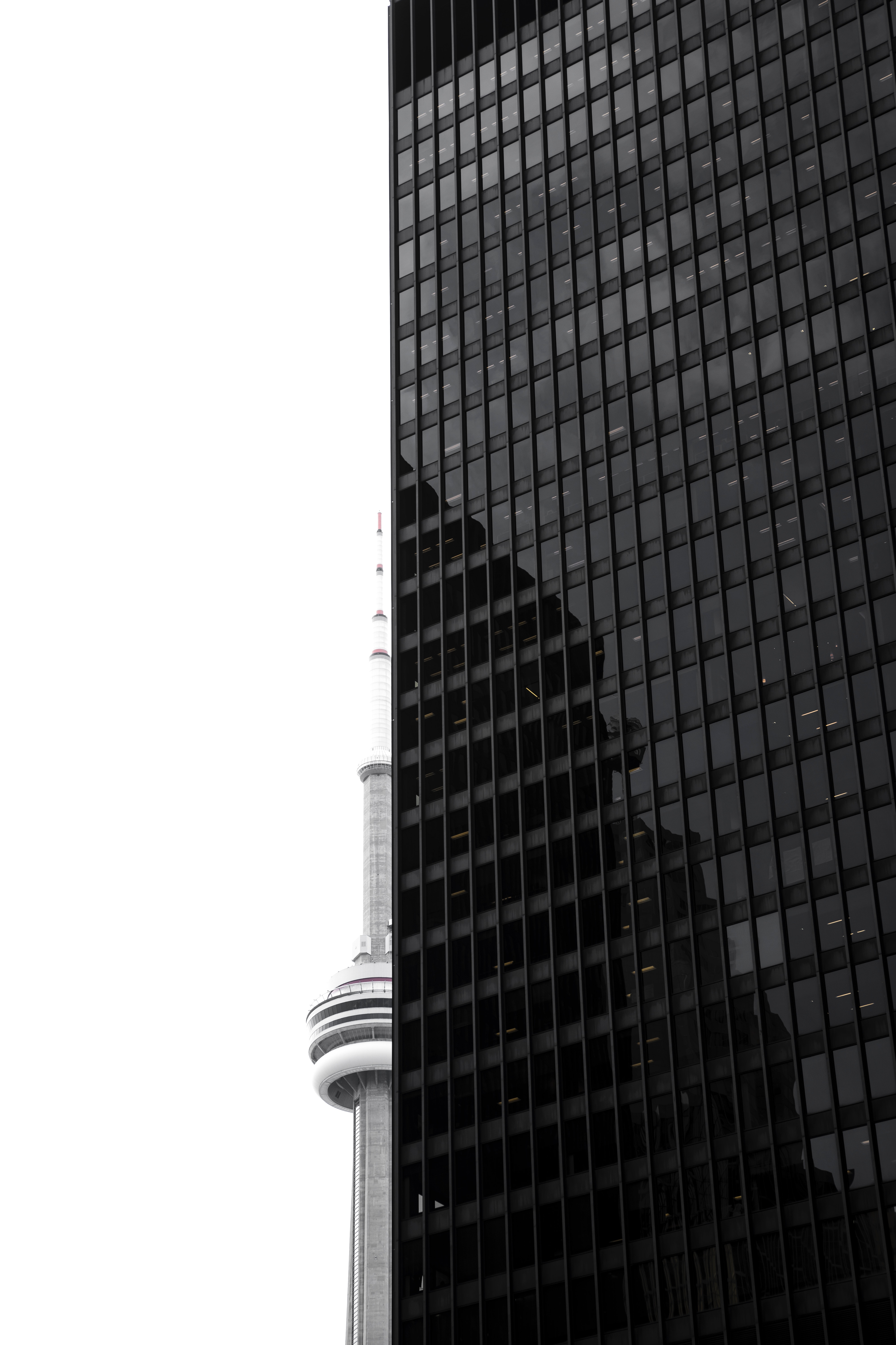 photo of Toronto CN-Tower and building