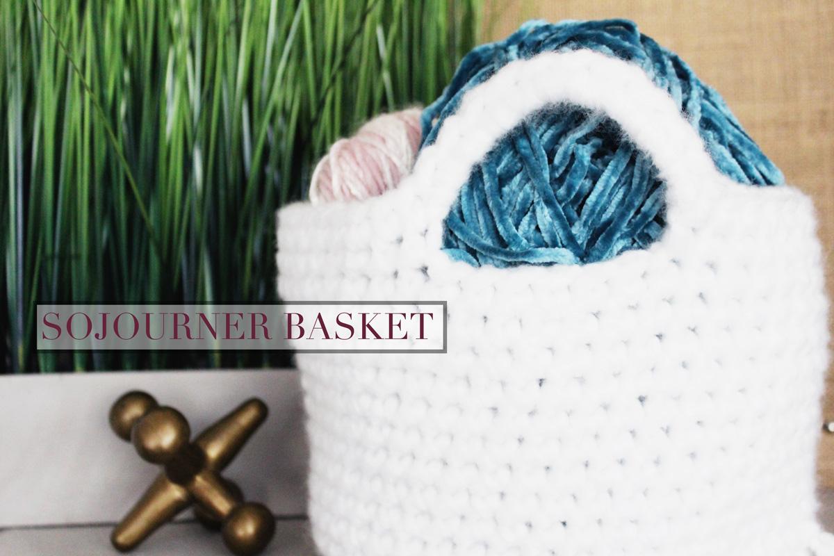 Sojourner Basket Crochet Pattern The Hook Nook Shop